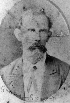 (44) Zachariah Skyring Snr. B. 16 Jan 1828 d. Gympie 1894, m. Amelia Louisa Sparkes 29 September 1858 arrived Australia with parents aged 5 12 July 1833