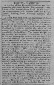Nashville Times, Wednesday, Feruary 26,1868 p.5 Hospital Committee