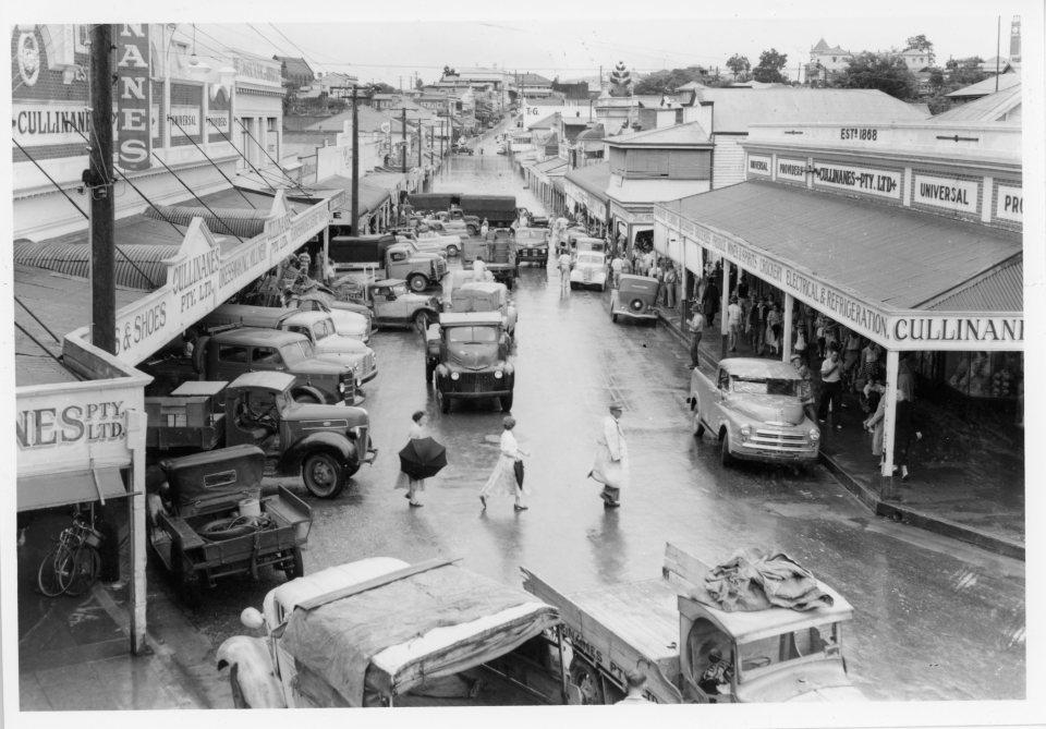 Flooded Mary Street 1955