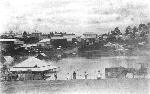Commissioners Gully, during the 1890 flood
