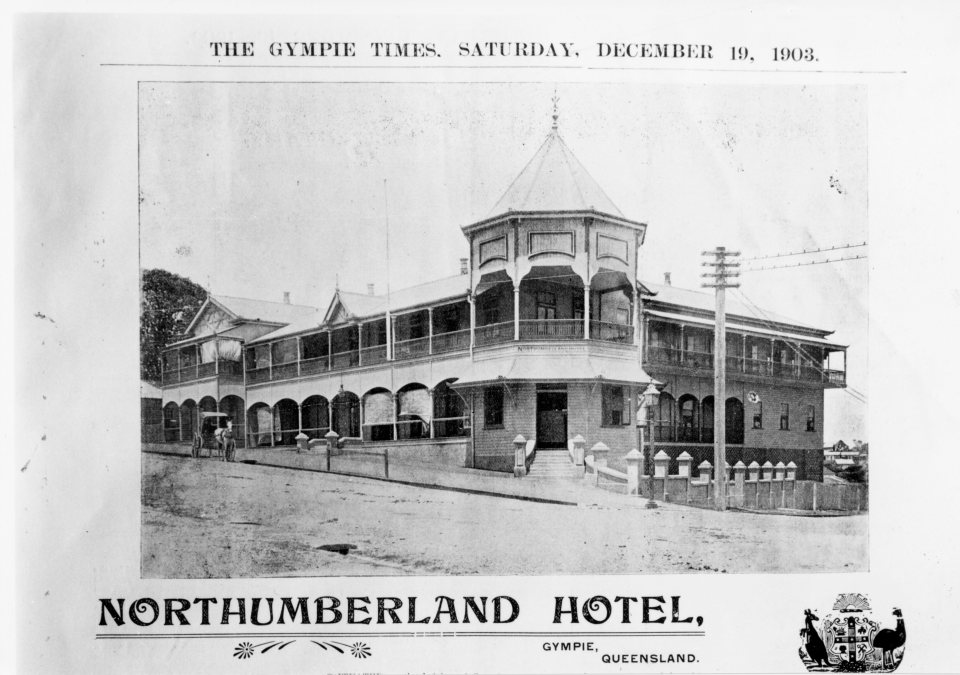 Northumberland Hotel Channon St Gympie Dec 19 1903