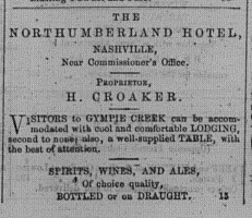 Nashville Times, Saturday, March 7, 1868 p.1 Northumberland hotel