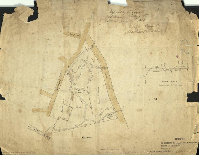 1888 Survey Map of Pumpkin Flat