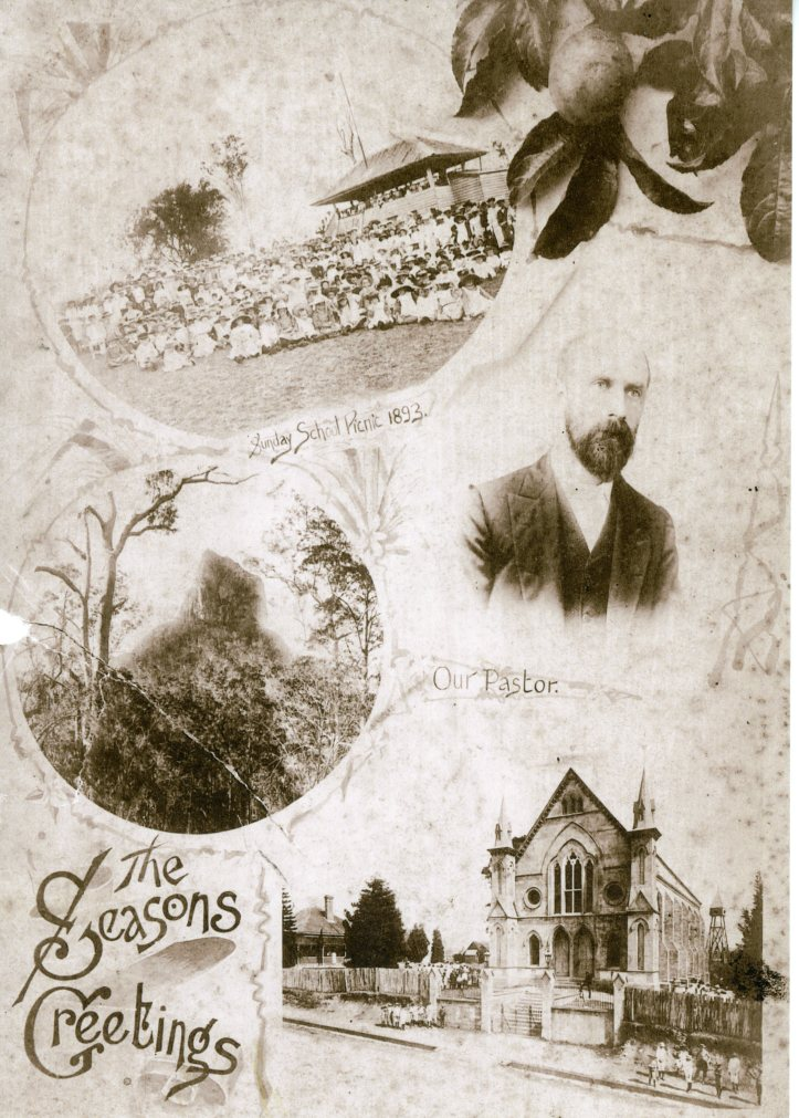 Surface Hill Wesleyan Church Sunday School picnic 1893 minister Rev JG Martin GPC