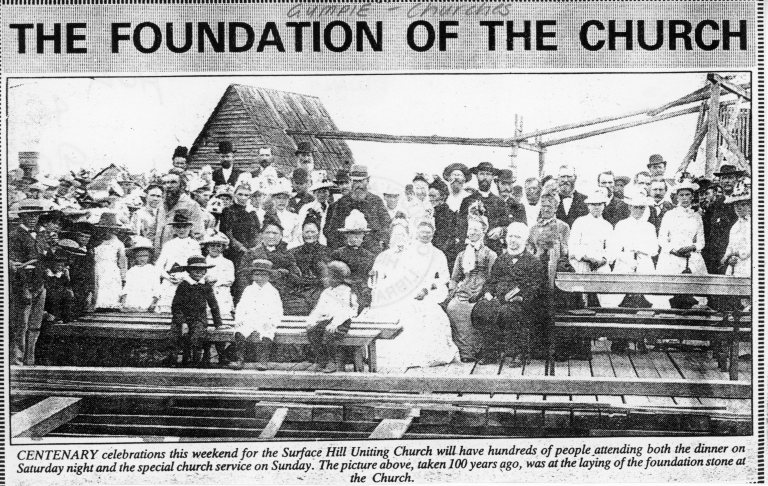 Laying of the foundation stone 1890