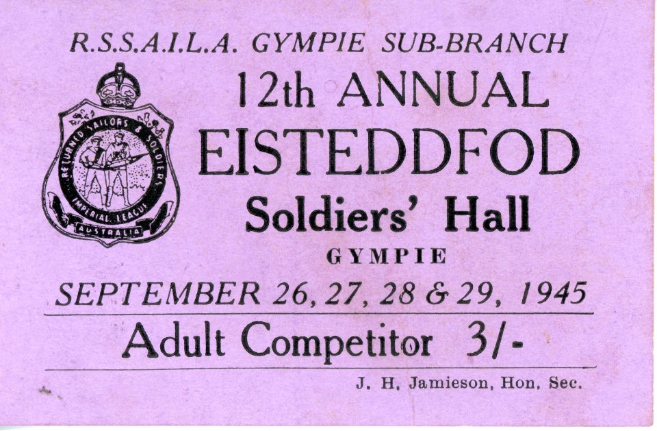 12th Annual Eisteddfod Adult Competitor ticket