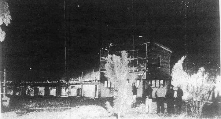 The fire at Gympie State High School 1955