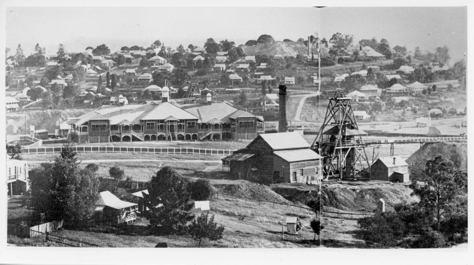 Gympie State High School Columbia Extended Mine in the foreground