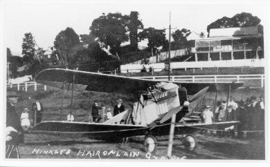 Bert Hinkler's Avro Babe in Memorial Park April 1921