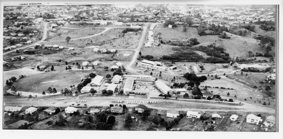 Aerial view of Gympie State High School c1960's