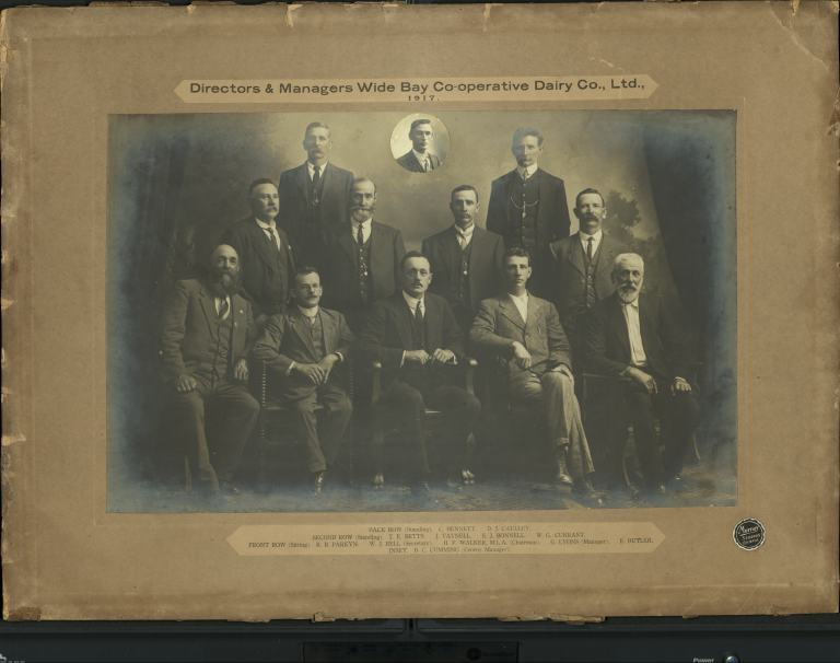 Directors & Managers Wide Bay Co-operative Dairy Co., Ltd., 1917