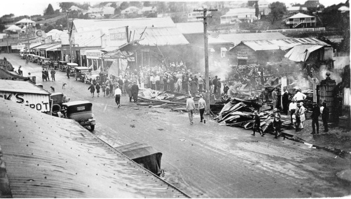 Central Mary Street after the 1929 fire