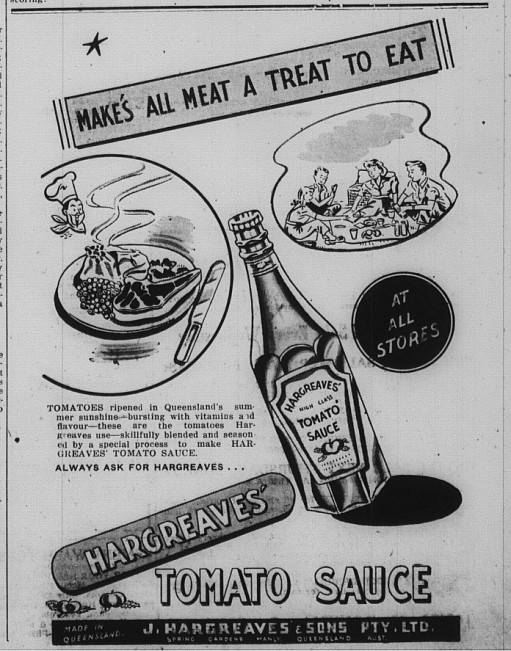 Gympie Time T Tuesday 15 March, 1948 p.5 Tomato Sauce advert