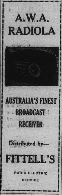 Gympie Times Tuesday March 15, 1948 p.2 Fittell's Radio-electric Service