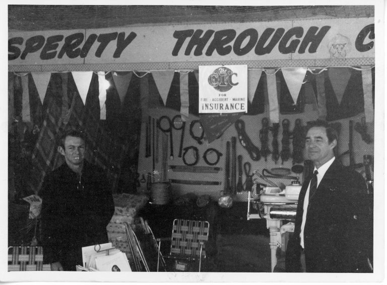 Farmer's Co-operative Trading Society, Gympie Show Alfred Blake on left 1972