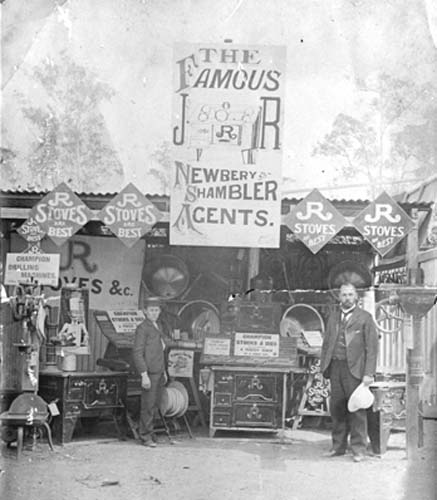 Newberry and Shambler STand Gympie Show ca 1900 - SLQ