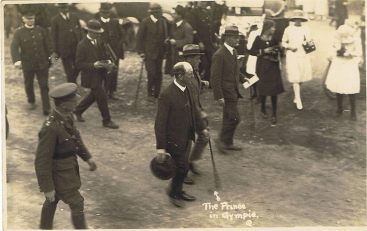 The prince in Gympie 1920a