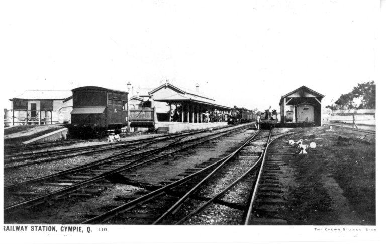 Railway Station Gympie c1890's Brisbane line