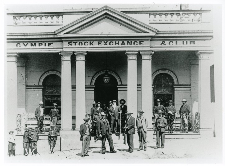 Gympie Stock Exchange and Club c1900's