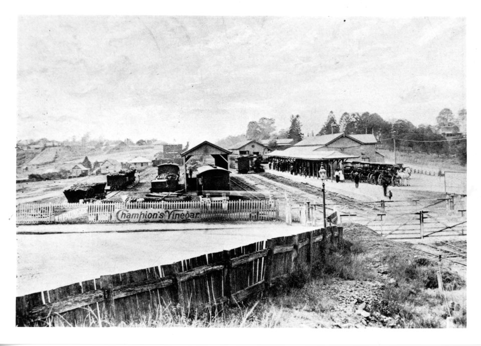 Second Railway Station 1891 open to Brisbane JOL Neg No 164539