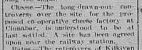 GT Saturday, August 12, 1916 p. 6 Cinnabar Cheese Factory