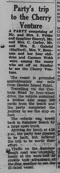 GT Tuesday July 17, 1973 p. 5 Party's trip to the Cherry Venture