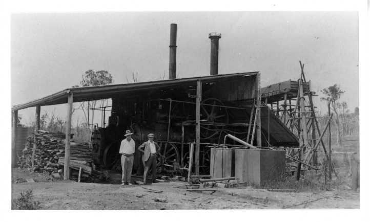 Steam engines at Cinnabar quicksilver mine Mr J Len