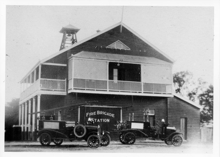 Gympie Fire Brigade 1920's First motor vehicles used JOL 34707