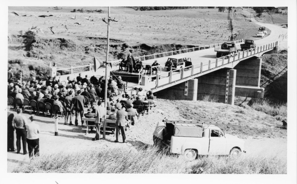 Opening of Kidd Bridge 1961