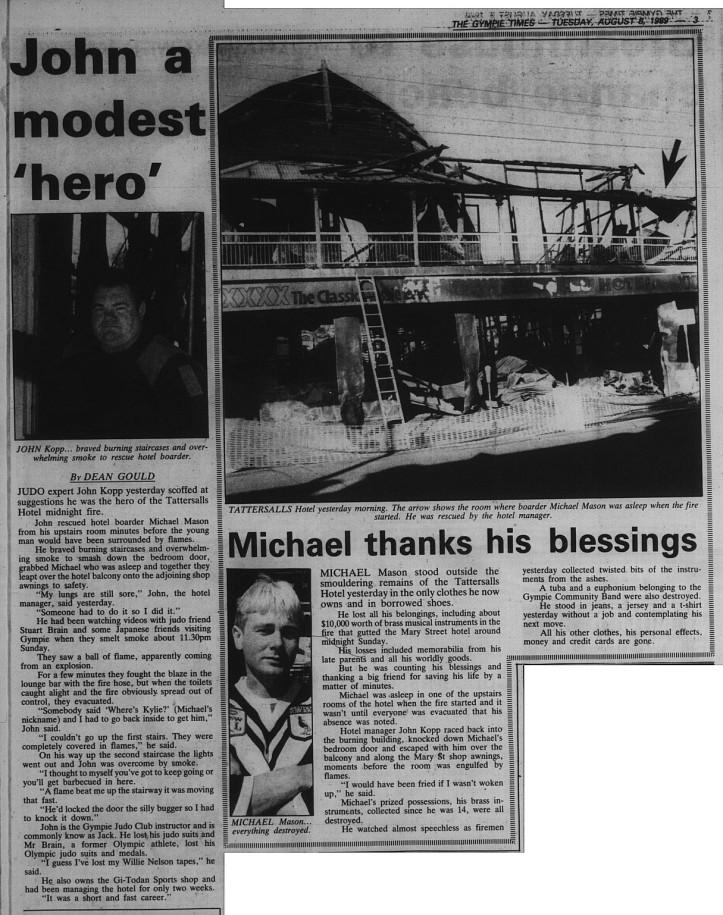 GT Tuesday, August 8, 1989 p. 3 John modest 'hero'