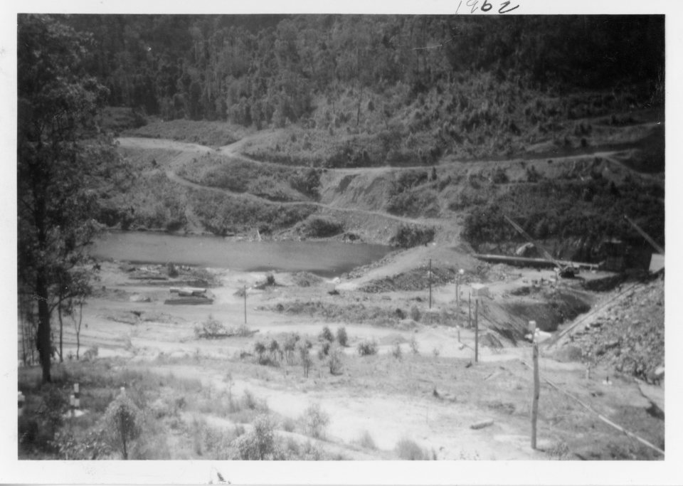 Borumba Dam - 2 December 1962 -Construction phase