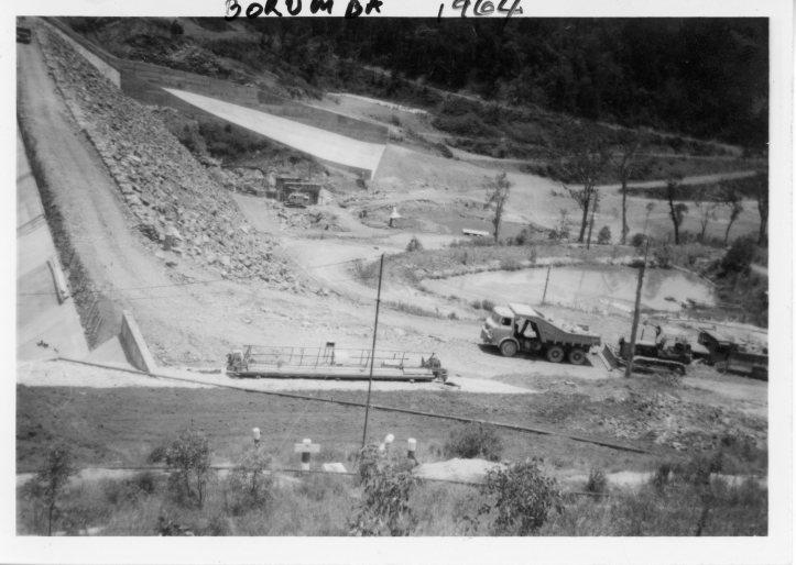 Borumba Dam - January 1964 -Construction phase