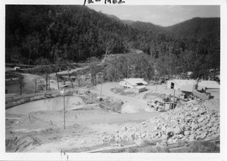 Borumba Dam  2 December 1962 Construction phase