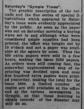 Gympie Times, Tuesday, September 27, 1932 p.7 Tornado photos Notes and News