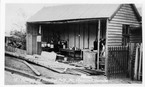 Kitchen of Murphy's Hotel, Mt Pleasant, Tornado 1932