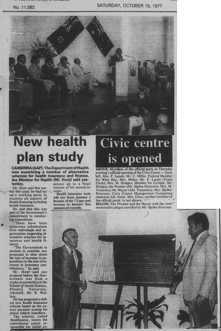 Civic Centre is opened