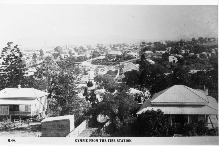 Gympie from the fire station post 1890 pre 1940