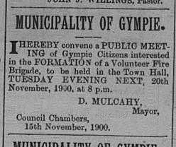 Advertising of meeting for Fire Brigade