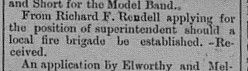 Gympie Times Thursday, January 11, 1900 p. 3 Superintendent application