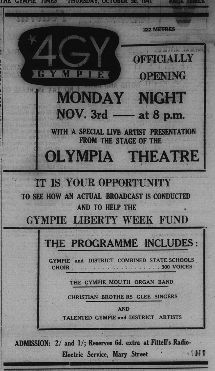 Advert for 4GY opening
