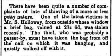 Holloway thief - July 1901
