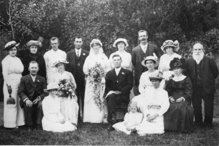 George and Daisy Elliott Wedding, c 1914