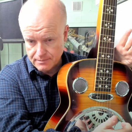 Brian Hayes with dobro guitar